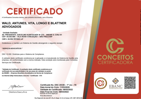 Certificado Compliance 2021